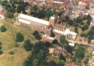 The abbey from the air