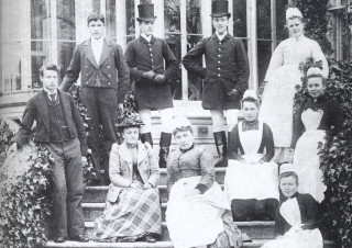 Clara Wilshere who lived in Pirton is shown here with other members of staff at her employer's house in London, c. 1890s. | Portrait of Pirton