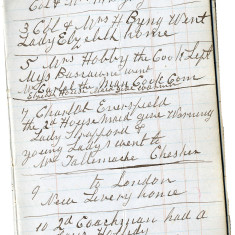 The Diary of the Coachman, James Palmer | Hertforshire Archives and Local Studies, Ref: D/EX 318 Z2