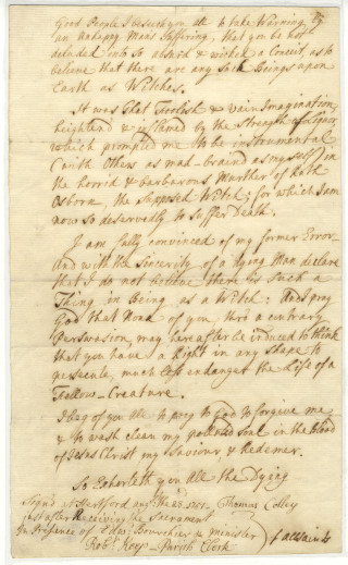 Colley's confession. De/Lw/Z22 | Hertfordshire Archives and Local Studies