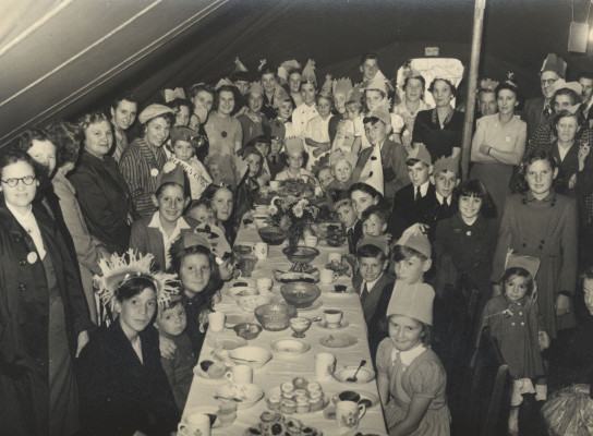 Coronation party in a marquee