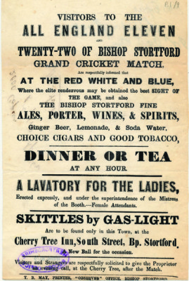 Skittles by Gas Light, [DE/He/B1/9;18] | Hertfordshire Archives and Local Studies