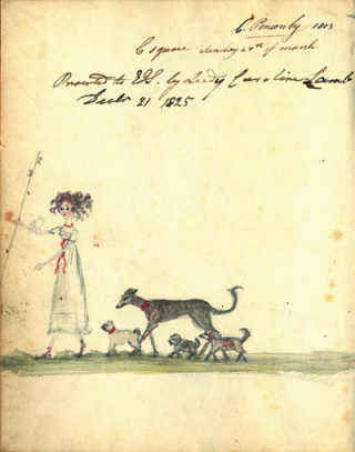 Walking dogs in Cavendish Square [DE/Lb/F66/1] | Hertfordshire Archives and Local Studies