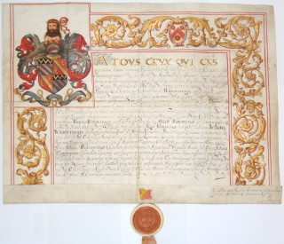 Witterwronge Coat of Arms   Hertfordshire Archives and Local Studies