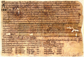 Edward the confessor's grant of land [DE/LW/Z22/4] | Hertfordshire archives and local studies