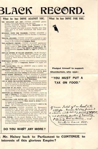 The campaign against Frederick Halsey   Hertfordshire archives and Local Studies