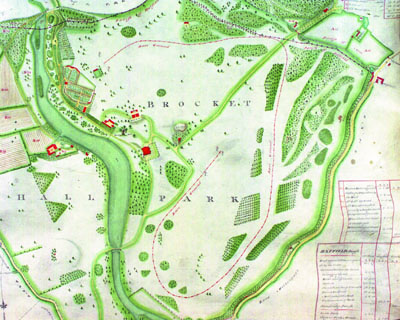 Plan of race course 1798, [DE/P/P15] | Hertfordshire Archives and Local Studies