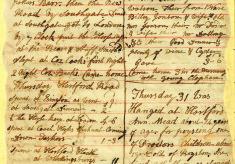 The Diary of John Carrington, 1800