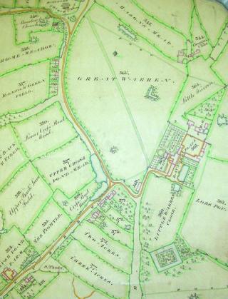 Bayfordbury Estate Map [DE/X629/P1]   Hertfordshire Archives and Local Studies