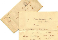 Letter from Oscar Wilde (1854-1900)