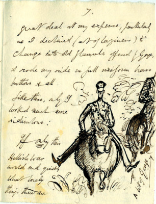 Letter from Rex Whistler [DE/X789/C38]   Hertfordshire Archives and Local Studies