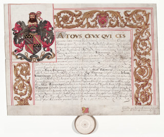 The Wittewronge Grant of Arms | Hertfordshire Archives and Local Studies.