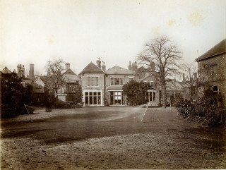 Hermitage, showing the tennis courts | Hertfordshire Archives and Local Studies DE/So/F5/1
