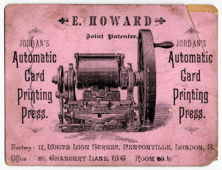 Printed card advertising Jordan's | Hertfordshire Archives and Local Studies Ref:D/EHo/F14/4