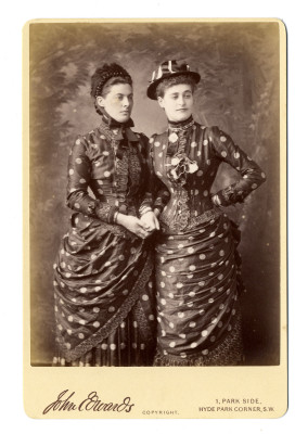 Katrine, Countess Cowper and her sister, 1884