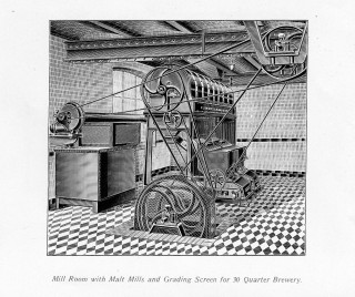 Mill Room with Malt Mills and Grading Screen for 30 Quarter Brewery | Hertfordshire Archives and Local Studies, Ref: D/ESb(ADD i)/B6