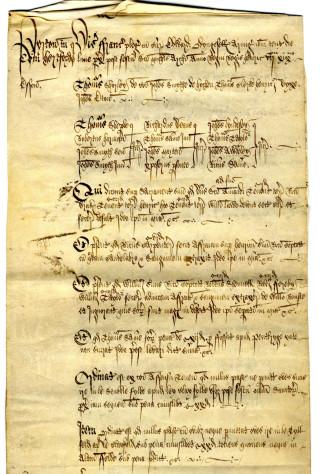 Pirton court roll, 1494-1503 | Herts Archives (DE/50)