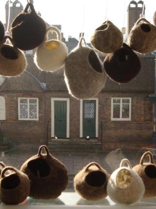 Hand felted Shetland fleece pods | Connie Flynn