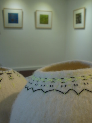 Embroidered felt pods. | Connie Flynn