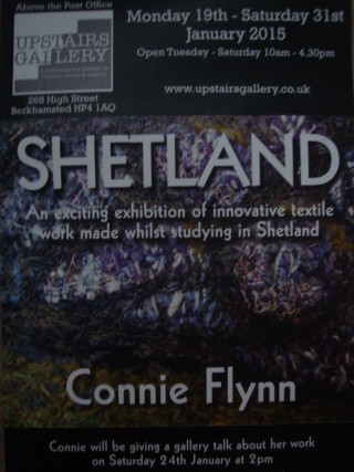 SHETLAND exhibition poster. | Upstairs Gallery