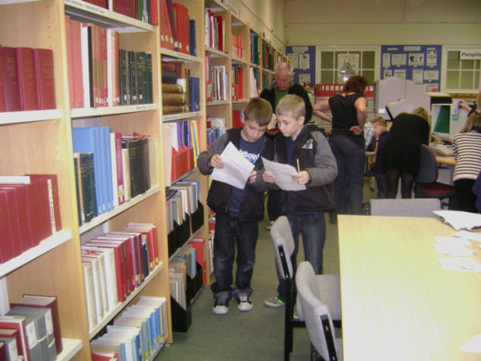 Boys enjoying the ghost trail | Hertfordshire Archives and Local Studies