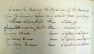 Record from a meeting of the annual Court Leet at the Liberty and Manor of Cheshunt, 1820 (DZ/39/M1) | Herts Archives & Local Studies