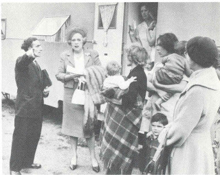 Meeting with Travellers for who she campaigned