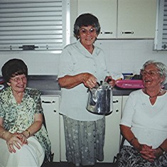 Tea Ladies: Jean Daniels (left), Betty Peacock (centre) and Olive Peacock. | Geoff Webb