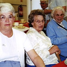 Left to right: Jean Attfield, Olive Darvell, Gladys Fox. | Geoff Webb