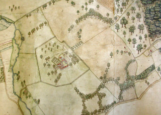 Map of the Manor of Digswell, 1599 | Hertfordshire Archives (DE/P/P1)