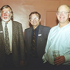 Left to right: Fred Woodstock, Roger May, Frank Douse. | Geoff Webb