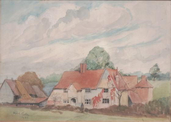 Dye's Farm, a watercolour dated 1946 | Miss Mabel Culley