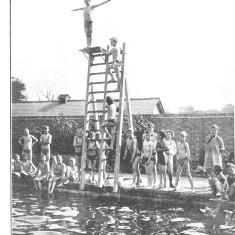 A swimming pool was provided to promote the health of its boys | The building is now used by local schools and groups and has been covered over
