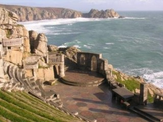 The Minack Theatre stage