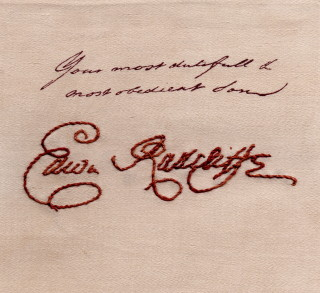 Signature of Edward Radcliffe, writing to his parents from Aleppo - 1712-13 (DE/R/C21/1) | Eva Cantin