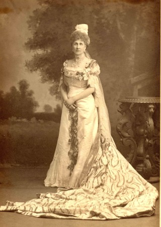 Edith, Dowager Countess of Lytton, dressed for the 1902 coronation | Knebworth House Archives