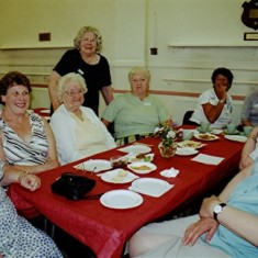 Left to right: Doris Elsden, Cynthia Picton, Phyllis Hedges, Eileen Austin, Maureen Stevens, Fay Campbell, Nita Riley, Gill Palmer. | Geoff Webb