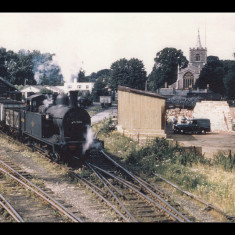 A 'Jinty' tank engine on daily shunting duties in 1962. | Photographer unknown, lent by Three Rivers Museum