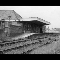 Rickmansworth Station, with overgrown tracks, in the late 1950s. | © Lens of Sutton Association, lent by Three Rivers Museum