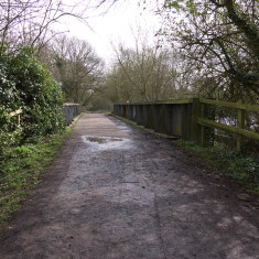 Trackbed crossing a bridge over the Grand Union Canal, near Croxleyhall Farm. March 2010. | © St Albans Museums