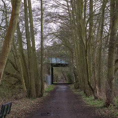 The trackbed passes between the Metropolitan Line Bridge. March 2010. | © St Albans Museums