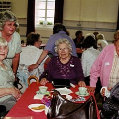 (Left to right): Peg Field, Daphne Herring (rear), Eileen Austin, Mollie Powell, Gladys Austin. | Geoff Webb