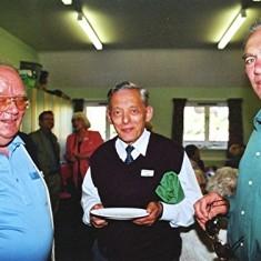 Left to right: Peter Flitton, Darley Webb, Ray Clarke | Geoff Webb