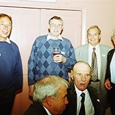 Left to right: Harvey Franks, Maurice Webb (front), Jim Burrows, Ken Hedges (front), Doug and Eric Ratcliffe. | Geoff Webb