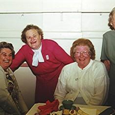 Left to right: Brenda Ventham, Phyllis Smith, Doreen French, Gwen Knight.   Geoff Webb