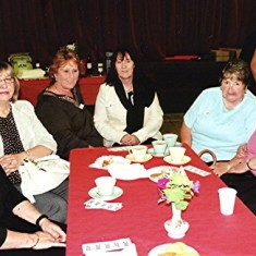 (Left to right): Pat Friar, Gillian Winch, Yvonne and Shelda May, Carol Moody, Lily Porter. | Geoff Webb