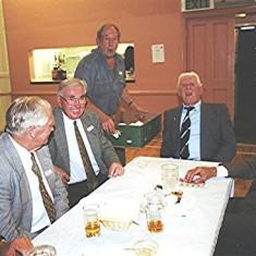 Left to right: Roy Fox, John Dunckley, Harry Halsey, Brian Cowland, 'Snowy' Nunn and Peter Fry | Geoff Webb