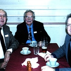 Left to right: Peter Fry, Brian Cheiza and Roger May. | Geoff Webb