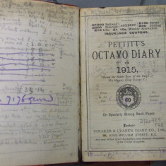 The front page of Julian's diary, made from 'specailly strong bank paper'.
