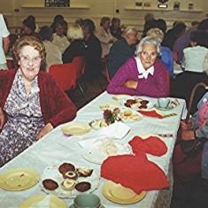 Left to right: Rita Walton, Edna Game, Barbara Walton, Kit Gurney, Ida Elborn, Gladys Fox.   Geoff Webb